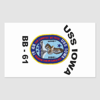 USS Iowa BB-61 Rectangular Sticker