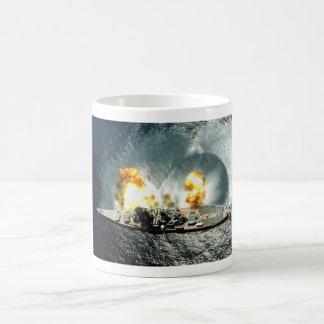 USS Iowa Firing A Full Broadside Coffee Mug
