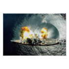 USS Iowa Firing A Full Broadside Poster