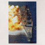 USS Iowa Firing Jigsaw Puzzle