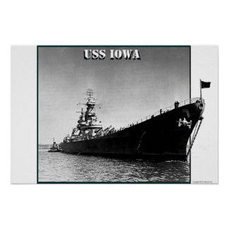 USS Iowa Póster