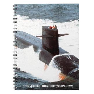 USS JAMES MONROE NOTEBOOK
