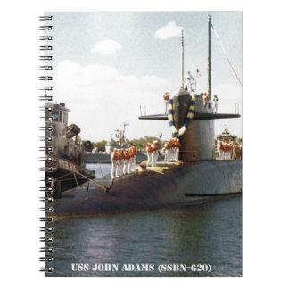 USS JOHN ADAMS SPIRAL NOTEBOOK