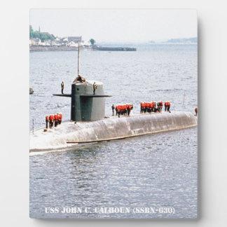 USS JOHN C. CALHOUN PLAQUE
