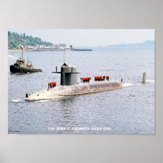 USS JOHN C. CALHOUN POSTER