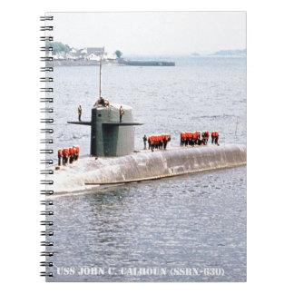 USS JOHN C. CALHOUN SPIRAL NOTEBOOK