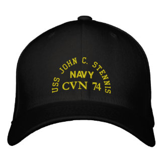 USS JOHN C. STENNIS, CVN 74, EMBROIDERED BASEBALL HAT