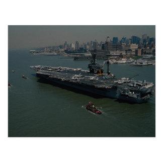 "USS John F. Kennedy"", el Hudson R de Nueva York qu Tarjeta Postal"