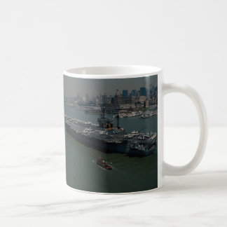 "USS John F. Kennedy"", el Hudson R de Nueva York qu Taza Básica Blanca"