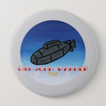 USS John Warner submarine navy Button