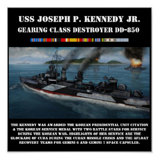 USS Joseph P. Kennedy Jr.  DD-850 Print