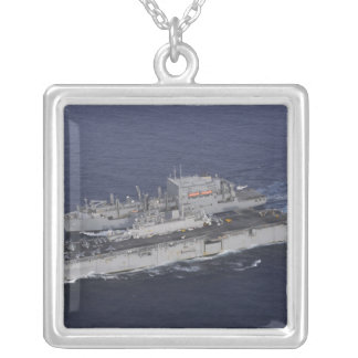 USS Kearsarge Silver Plated Necklace