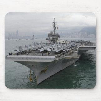 USS KITTY HAWK aircraft carrier mousepad