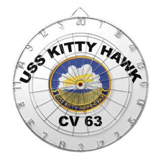 USS Kitty Hawk (CV-63) Dartboard With Darts
