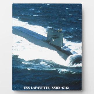 USS LAFAYETTE PLAQUE
