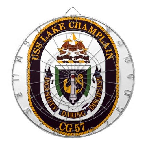 USS Lake Champlain (CG 57) Dartboard With Darts