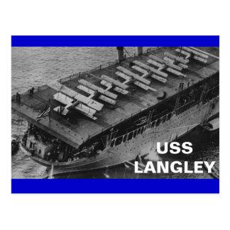 USS LANGLEY POSTCARD