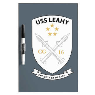 USS Leahy - Guided Missile CG16 - 2 Dry-Erase Board