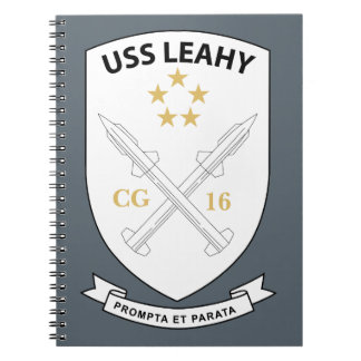 USS Leahy - Guided Missile CG16 - 2 Notebook