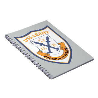 USS Leahy - Guided Missile CG16 - 2 Spiral Notebook