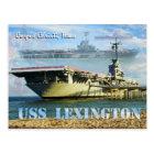 USS Lexington (CV-16), Corpus Christi, Texas Postcard