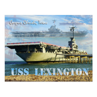 USS Lexington (CV-16), Corpus Christi, Texas Postcard