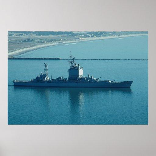 """USS Long Beach"""", CGN-9 crucero de propulsión nucle Impresiones"""