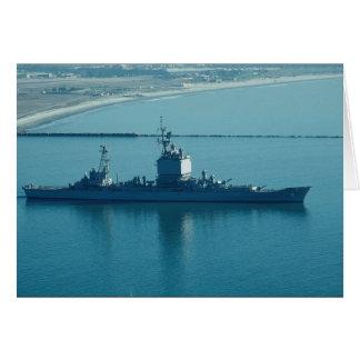 """USS Long Beach"""", CGN-9 crucero de propulsión nucle Felicitacion"""