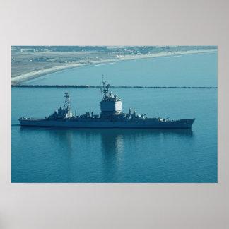 """USS Long Beach"""", CGN-9 crucero de propulsión Póster"""