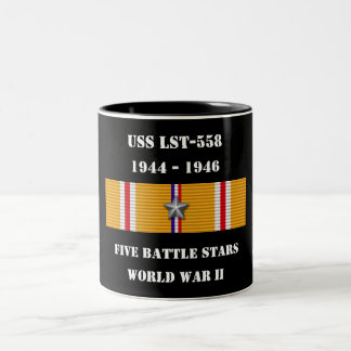 USS LST-558 Two-Tone COFFEE MUG