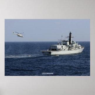 USS Mahan Poster