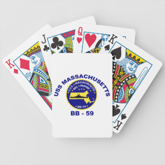 USS Massachusetts (BB-59) Bicycle Playing Cards