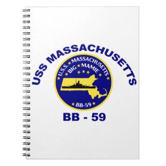 USS Massachusetts (BB-59) Spiral Notebook
