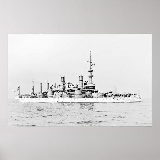 USS Massachusetts Poster