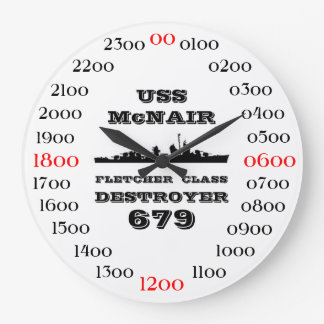 USS McNair (DD-679) Large Clock