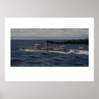 USS Miantonomoh - 1866 Póster