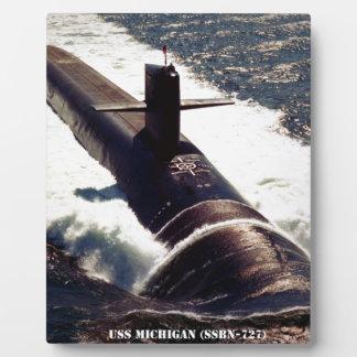 USS MICHIGAN PLAQUE