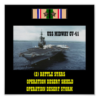 USS MIDWAY  (CV-41)  POSTER