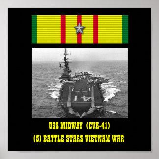 USS MIDWAY  (CVA-41)  POSTER