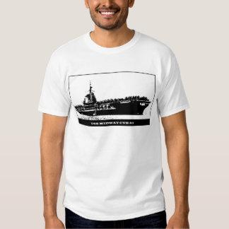 USS MIDWAY CVB-41, Navy Ship T-Shirt