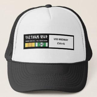 USS MIDWAY VIETNAM WAR VETERAN TRUCKER HAT