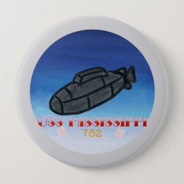 USS Mississippi submarine navy Button
