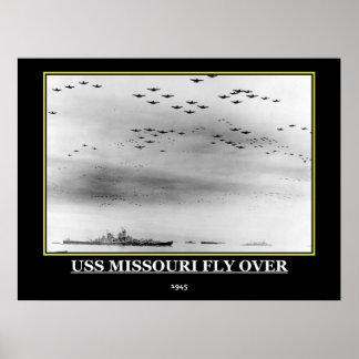 USS Missouri 1945 Vintage Poster print