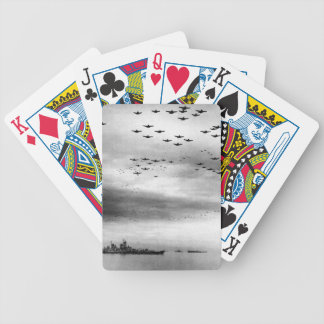 USS Missouri Flyover Surrender of Japan Bicycle Playing Cards
