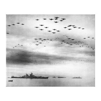 USS Missouri Flyover Surrender of Japan Canvas Print
