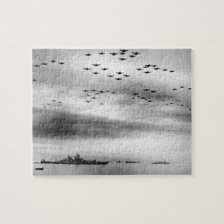 USS Missouri Flyover Surrender of Japan Jigsaw Puzzle