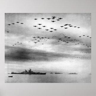 USS Missouri Flyover Surrender of Japan Poster