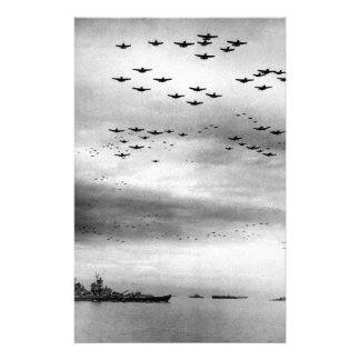 USS Missouri Flyover Surrender of Japan Customized Stationery