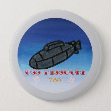 USS Missouri submarine navy Button