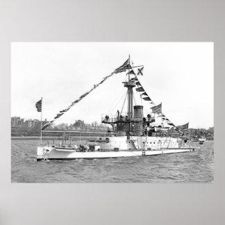 USS Monitor Amphitrite Poster